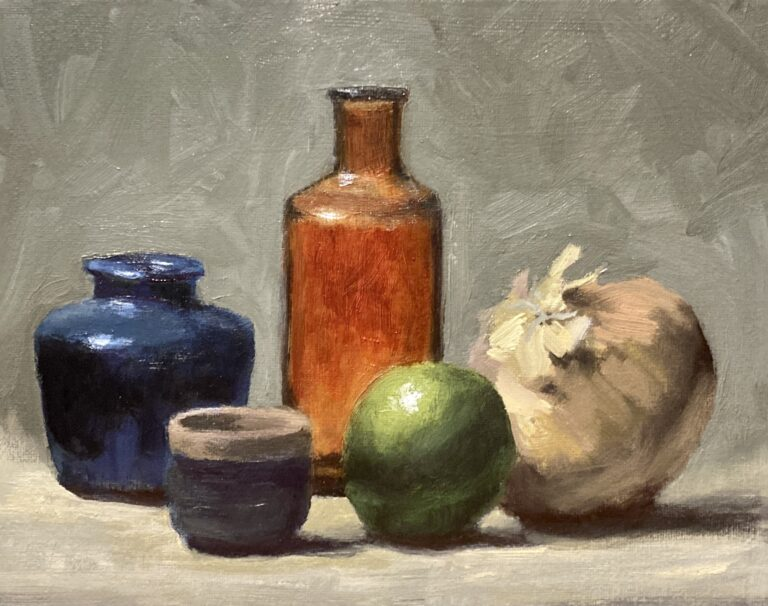 Still Life with Brown Bottle