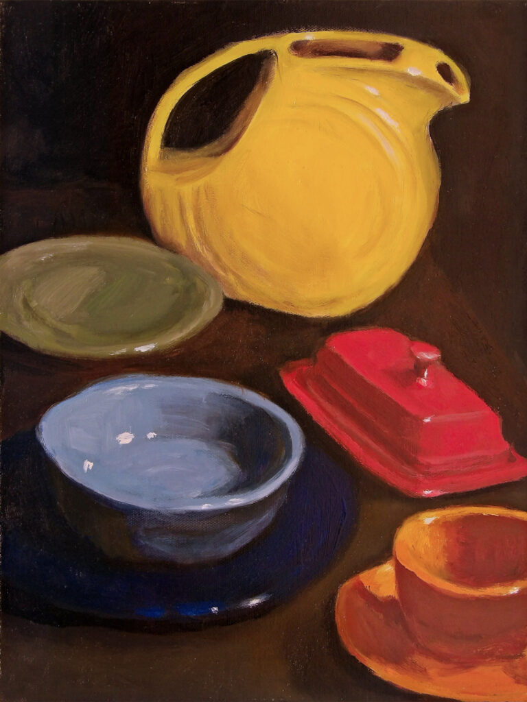 Still Life with Yellow Pitcher