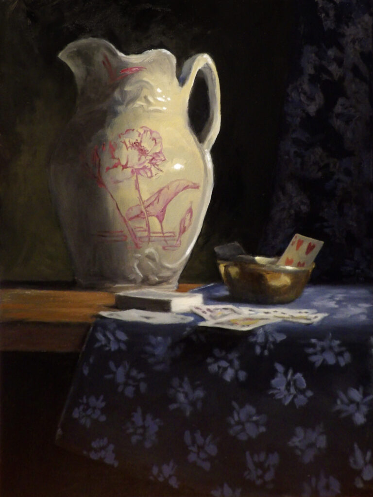 Still Life with Cards and Bowl