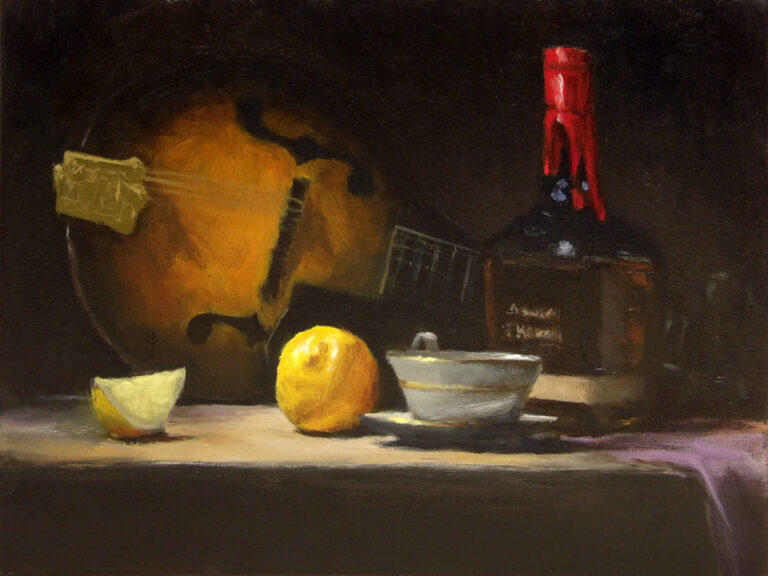 Still Life with Whiskey and Lemon