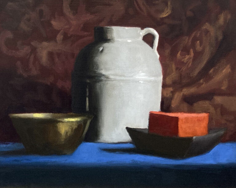 Still Life with Red Candle