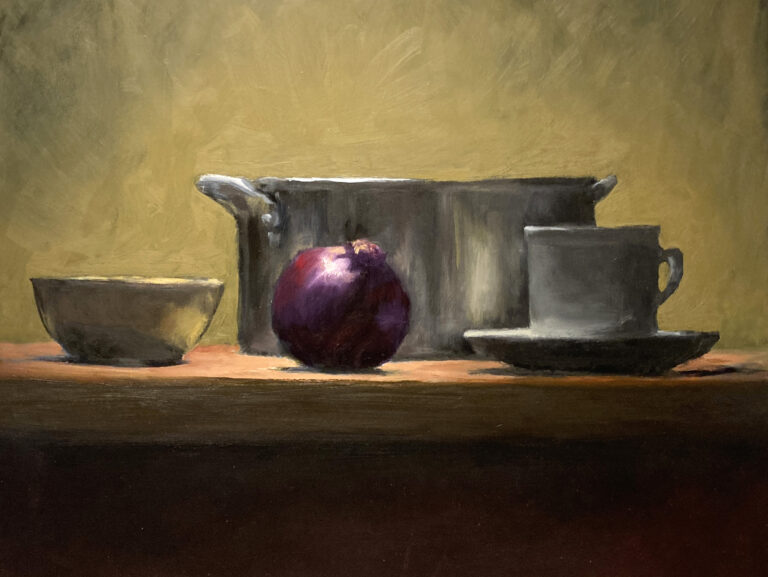 Still Life with Onion and Pot